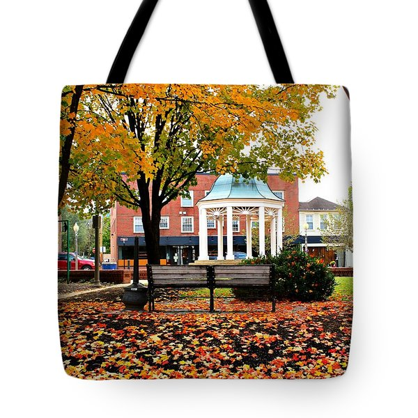 Tote Bag featuring the photograph Autumn Gatherings  by Candice Trimble