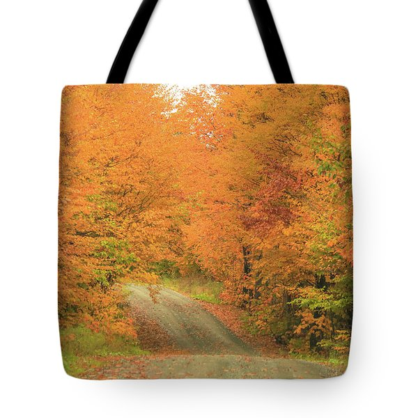 Autumn Gravel Road Tote Bag