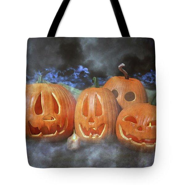 Autumn Halloween Pumpkin Evening Tote Bag