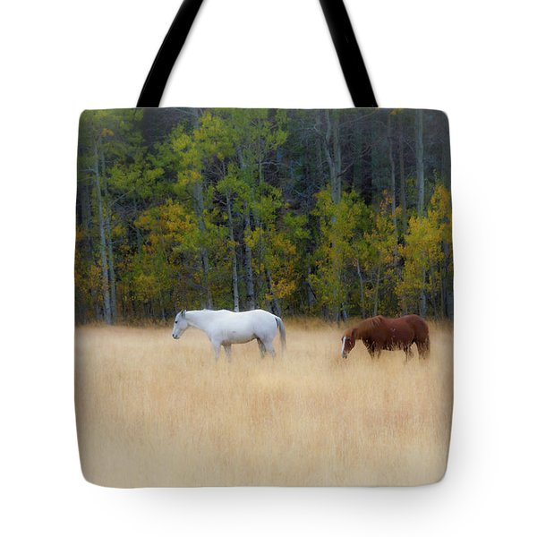 Autumn Horse Meadow Tote Bag