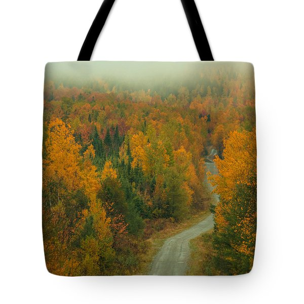 Autumn Logging Road In Maine Tote Bag