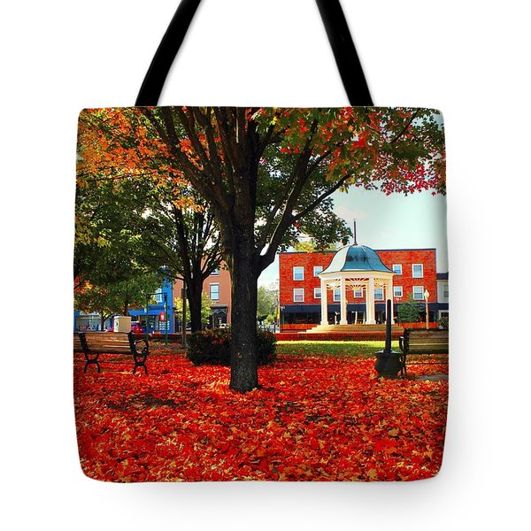 Tote Bag featuring the photograph Autumn Main Street by Candice Trimble