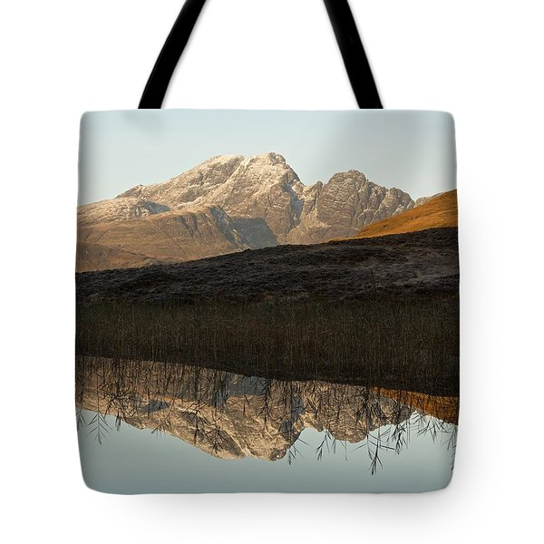 Tote Bag featuring the photograph Autumn Meets Winter At Blaven by Stephen Taylor