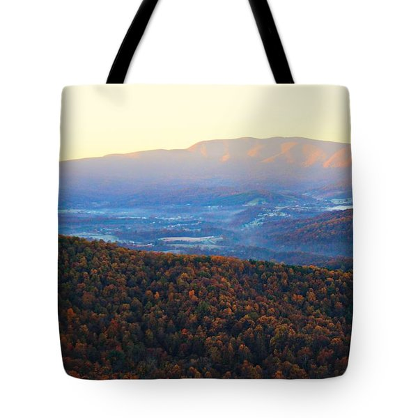 Tote Bag featuring the photograph Autumn Mountains  by Candice Trimble