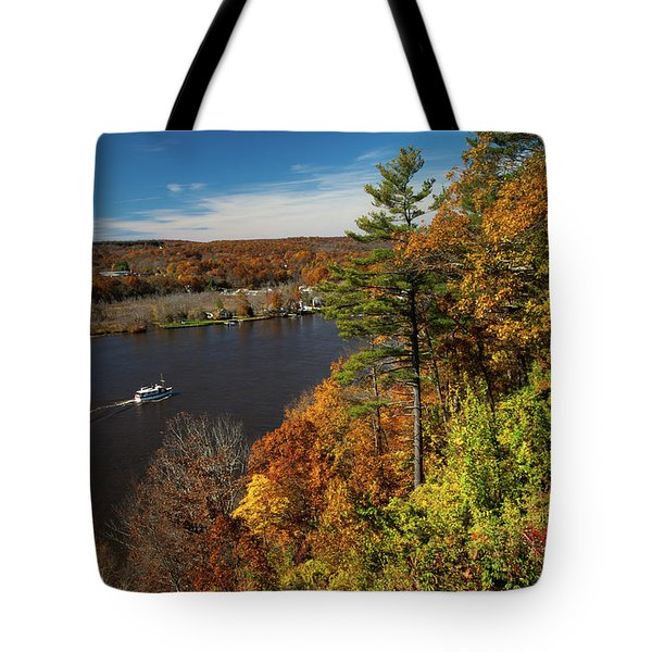 Autumn On The Connecticut River Tote Bag