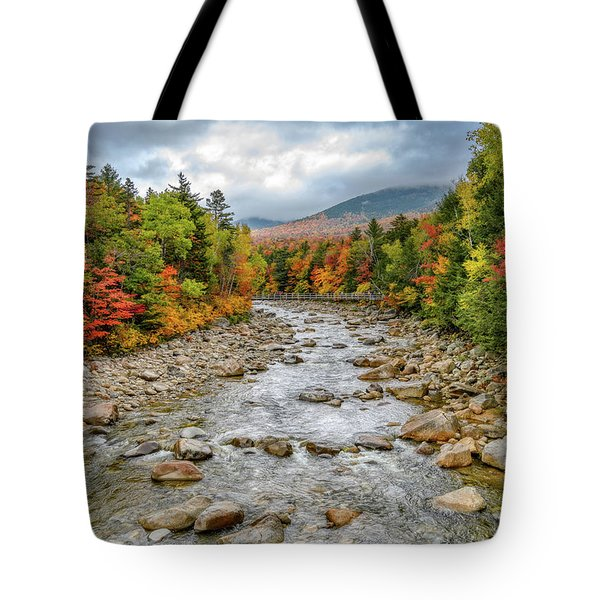 Tote Bag featuring the photograph Autumn On The Kanc. Nh by Michael Hubley