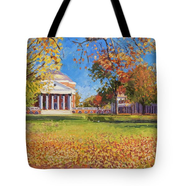Autumn On The Lawn Tote Bag