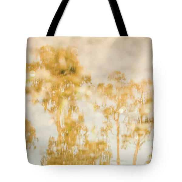 Autumn Puddles Tote Bag
