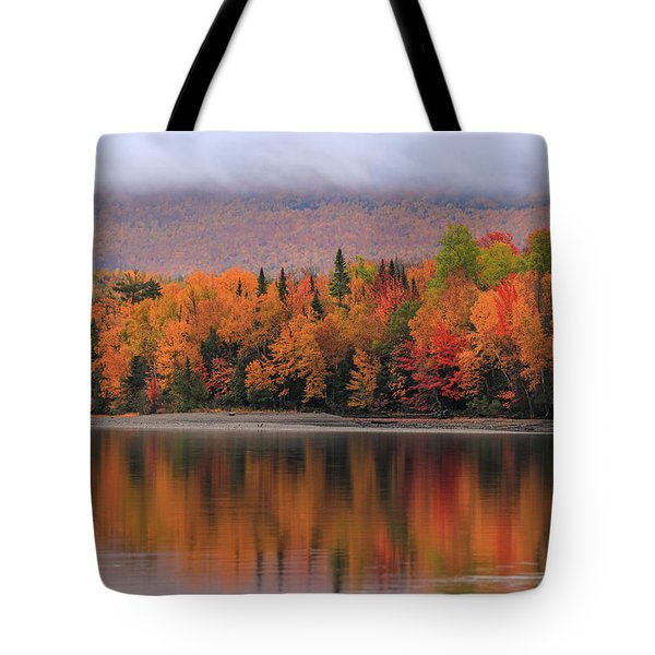 Autumn Reflections On First Roach Lake Tote Bag