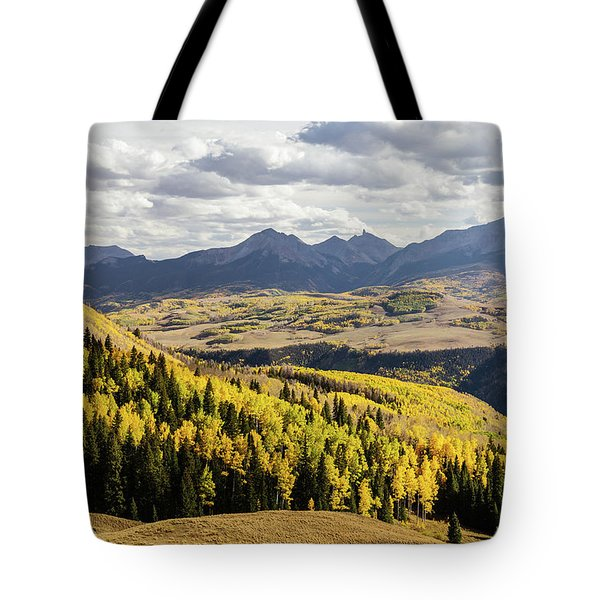 Tote Bag featuring the photograph Autumn Season View Of Sneffles Ten Peak by James BO Insogna