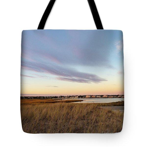 Autumn Sunset At West Dennis Beach Cape Cod Tote Bag