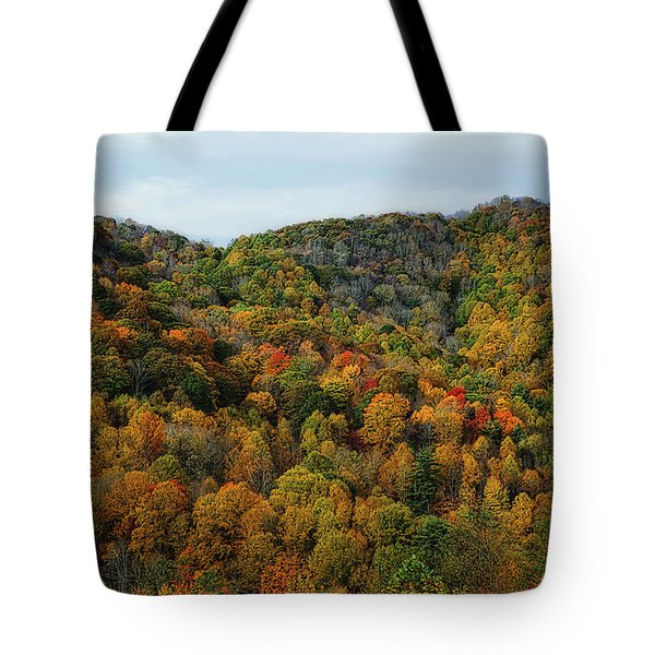 Autumn View Of The Bald Mountains  Tote Bag