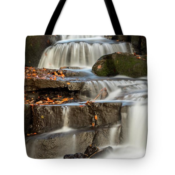 Tote Bag featuring the photograph Autumn Waterfall by Scott Lyons