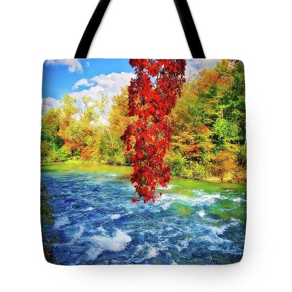 Tote Bag featuring the photograph Autumn's Flame - Niagara Falls, New York by Lynn Bauer