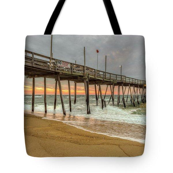 Avalon Pier - Kill Devil Hills Nc Tote Bag
