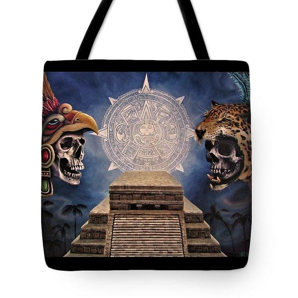 Aztec Warriors Tote Bag