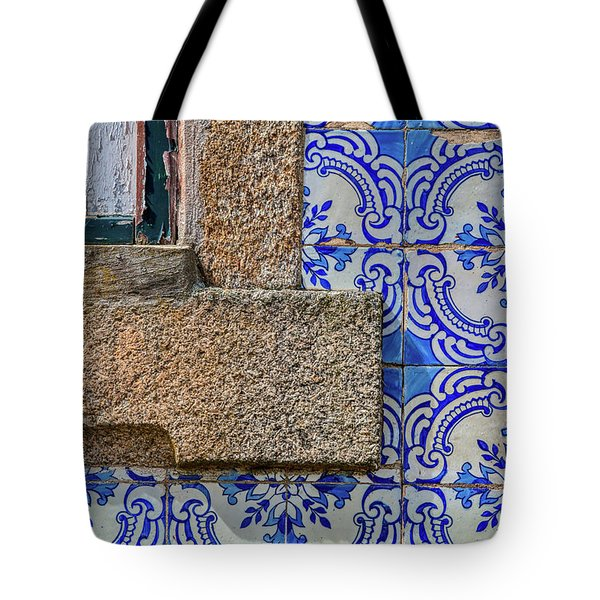 Tote Bag featuring the photograph Azulejo Tile Of Portugal by David Letts