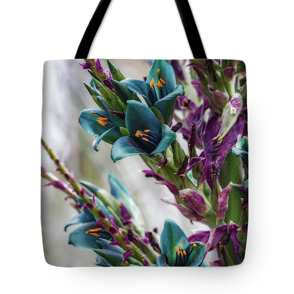 Tote Bag featuring the photograph Azure Dreams by Laura Roberts