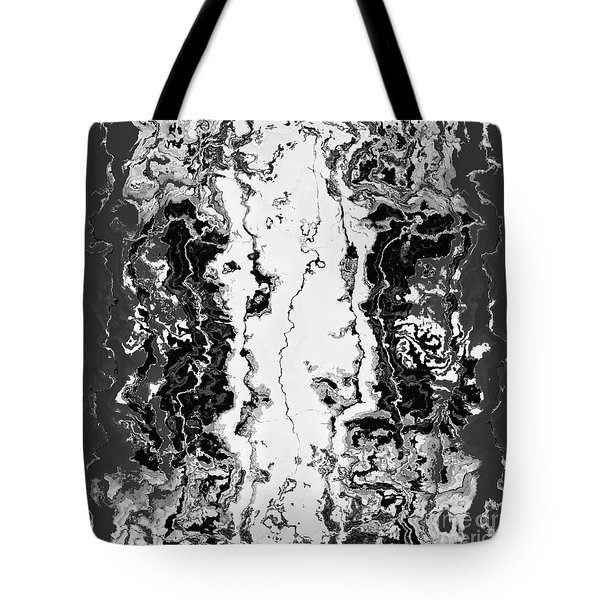 Tote Bag featuring the drawing B W Iner by A zakaria Mami