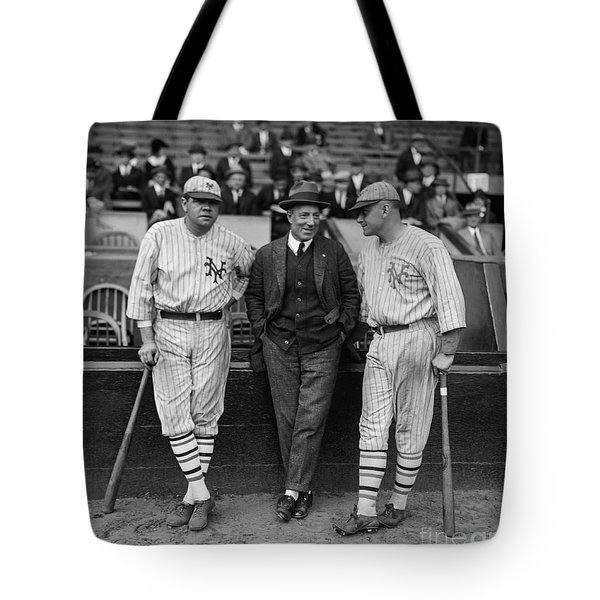 Babe Ruth And Jack Bentley 1923 Tote Bag