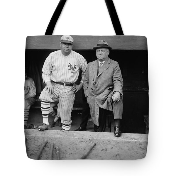 Babe Ruth And John Mcgraw New York Tote Bag