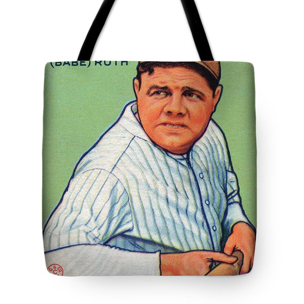 Babe Ruth Baseball Card 1933 Tote Bag