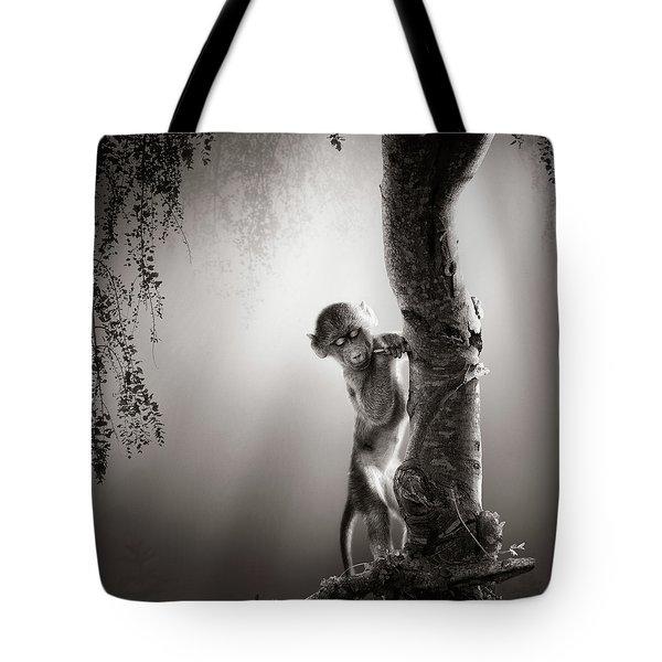 Baby Baboon Tote Bag