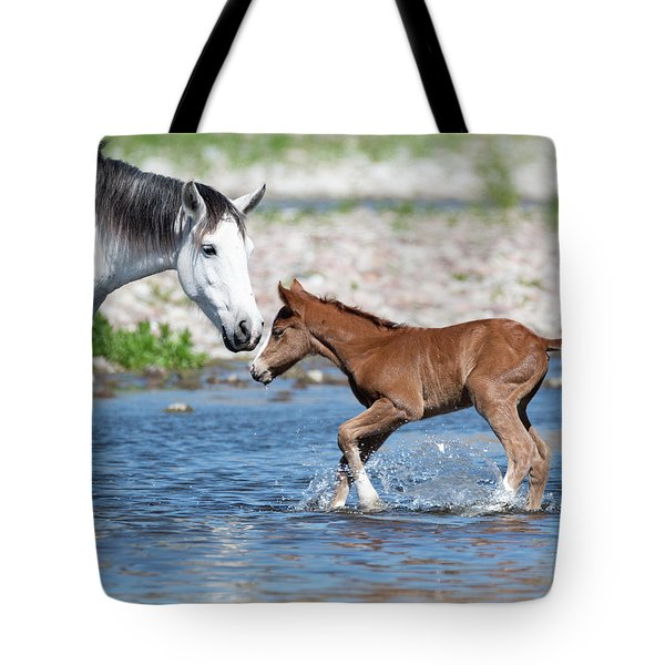 Baby's First River Trip Tote Bag