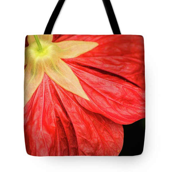 Back Of Red Flower Tote Bag