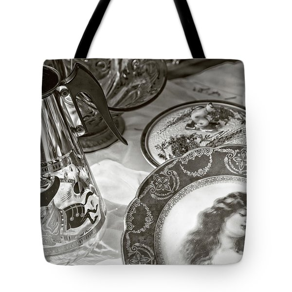 Back To Yesterday Bw Tote Bag