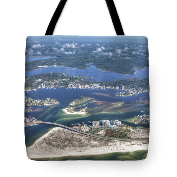 Tote Bag featuring the photograph Backwaters 5122 by Gulf Coast Aerials -