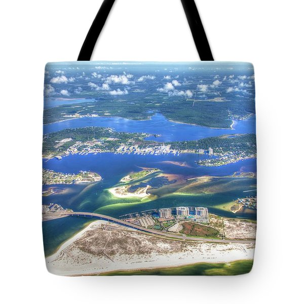 Tote Bag featuring the photograph Backwaters 5122 Tonemapped by Gulf Coast Aerials -