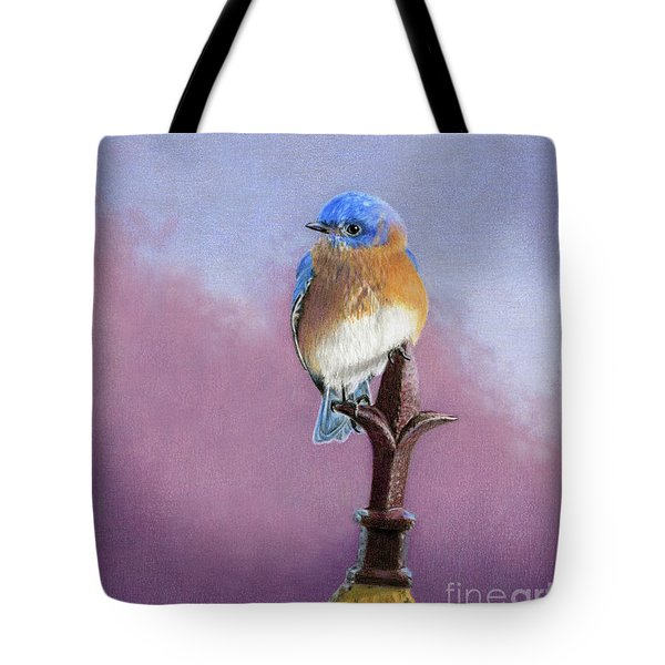 Backyard Bluebird Tote Bag