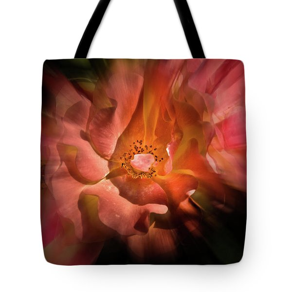 Backyard Flowers 40 Color Flow Version Tote Bag