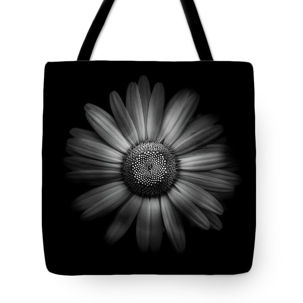 Backyard Flowers In Black And White 31 Tote Bag