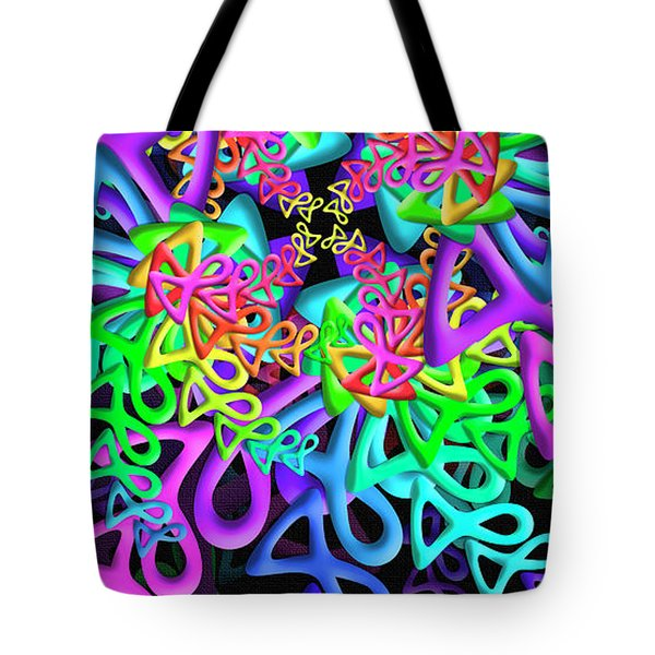 Tote Bag featuring the digital art Bagel by Vitaly Mishurovsky