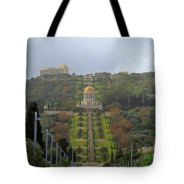 Bahai Gardens And Temple - Haifa, Israel Tote Bag