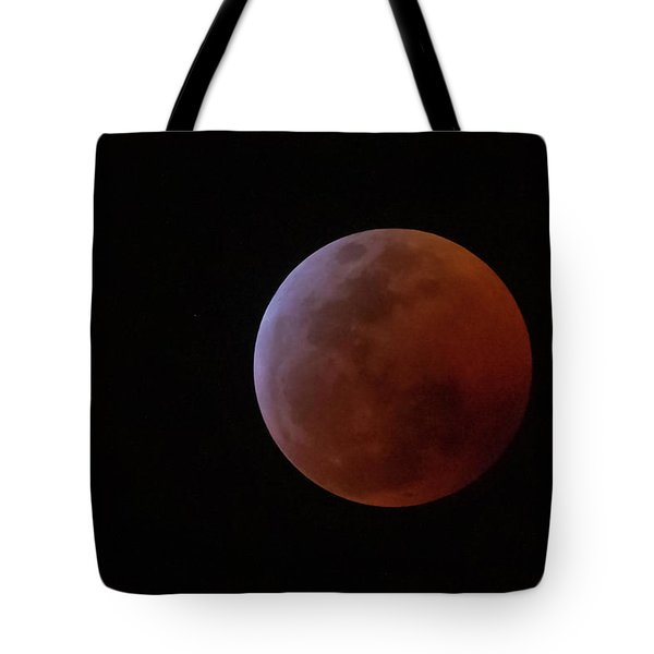 Tote Bag featuring the photograph Bahamian Super Blood Wolf Moon by Thomas Kallmeyer