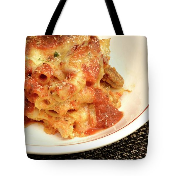 Baked Ziti Serving 2 Tote Bag