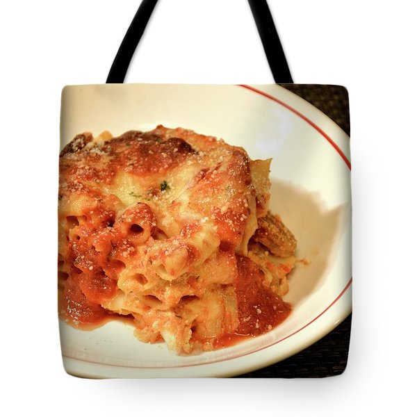 Baked Ziti Serving 3 Tote Bag
