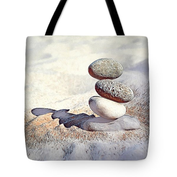 Tote Bag featuring the digital art Balance by Pennie McCracken
