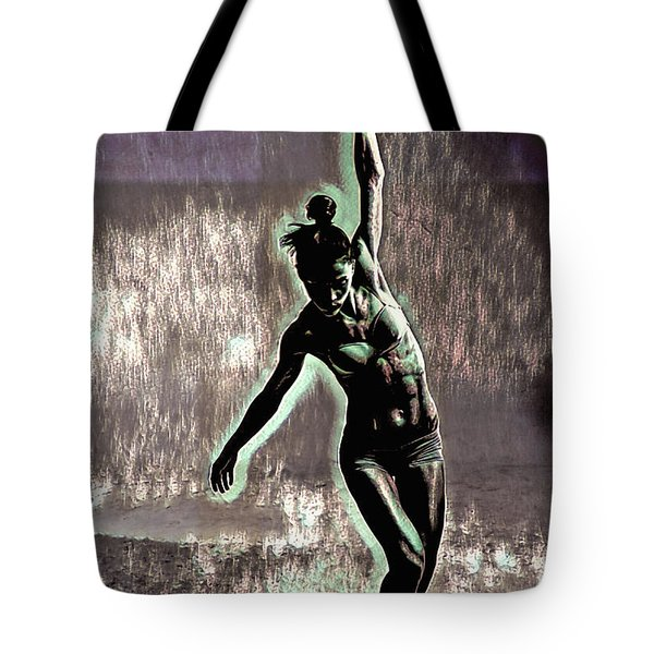 Tote Bag featuring the mixed media Balance by Susan Maxwell Schmidt