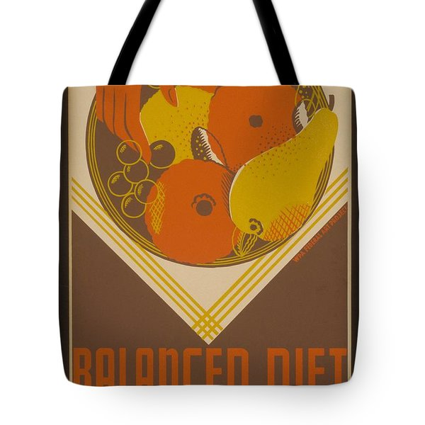 Balanced Diet For The Expectant Mother Inquire At The Health Bureau Tote Bag