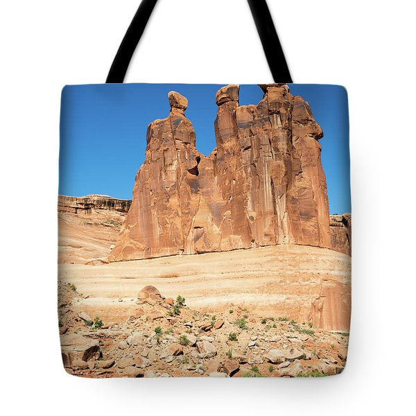 Balanced Rocks In Arches Tote Bag