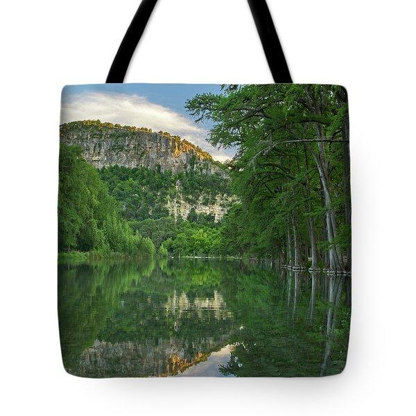 Bald Cypress Trees Along River, Frio Tote Bag