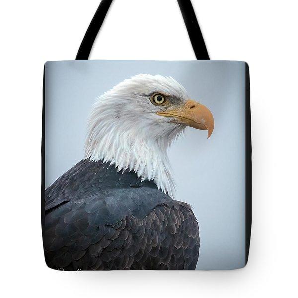 Bald Eagle Profile Tote Bag