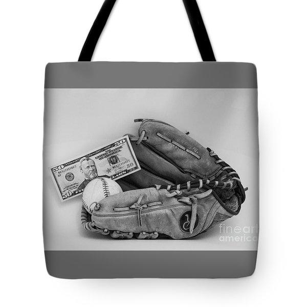 Ball And Glove Tote Bag
