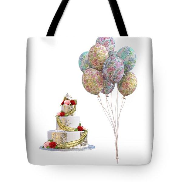 Balloons And Cake Tote Bag