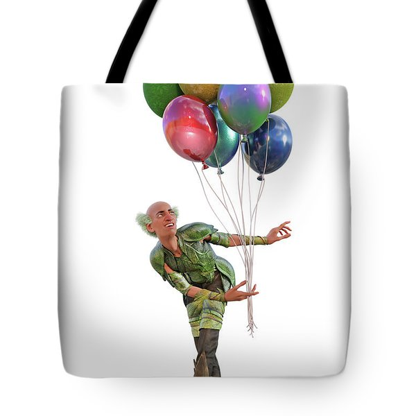 Balloons And Happy Guy Tote Bag