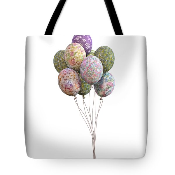 Balloons Classic Floral Tote Bag